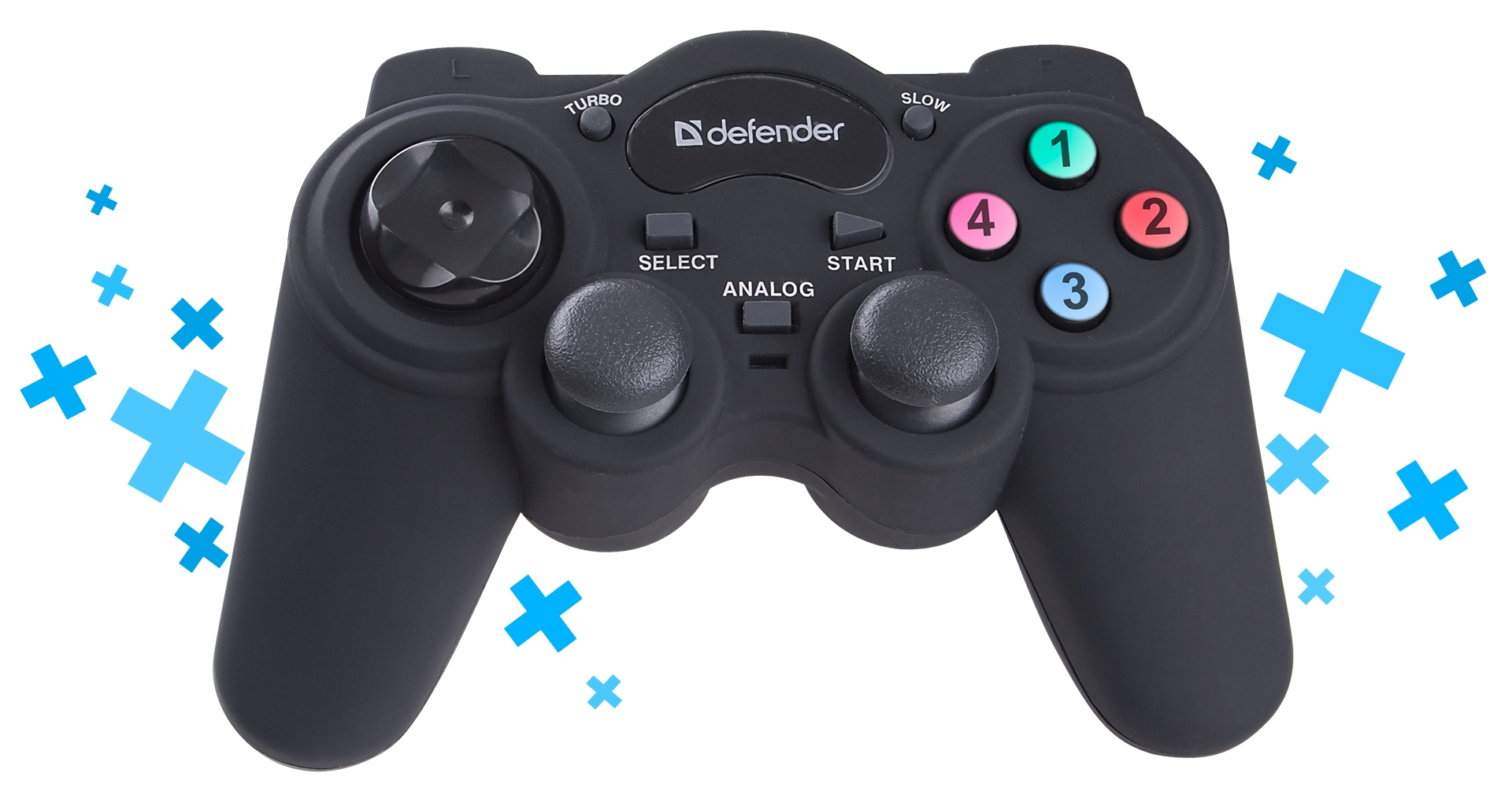Wired gamepad Defender Game Racer Turbo RS3 USB-PS2/3, 12buttons ...