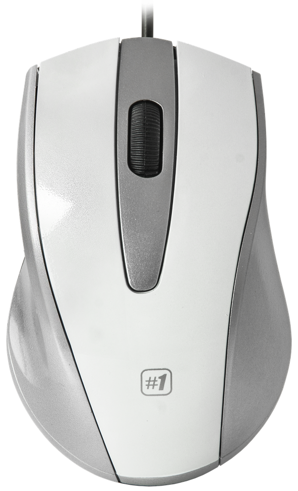 Wired Optical Mouse Defender #1 Mm-920 White+Grey, 3 Buttons Wired optical mouse Defender #1 MM-920 white+grey, 3 buttons White Things 920 white color