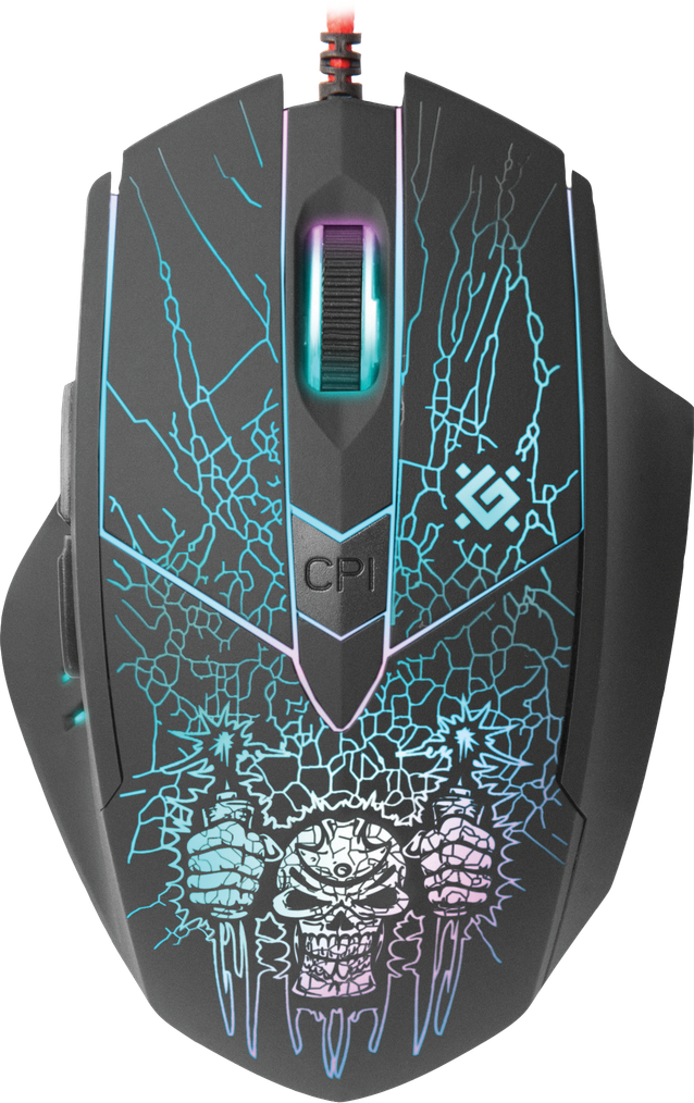 Wired gaming mouse Defender Doom Fighter GM-260L black,6 buttons ...